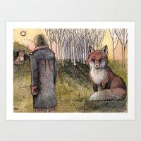 "le petit prince Art Prints featuring Le Petit Prince ""Tame"" by Danielle Ceneta"