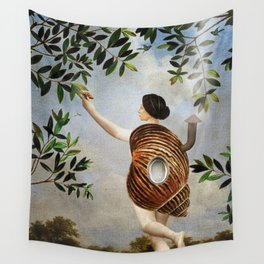 The Girl That Never Left Her Home Wall Tapestry