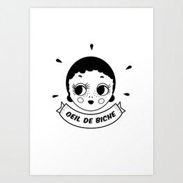 Oeil de biche Art Print
