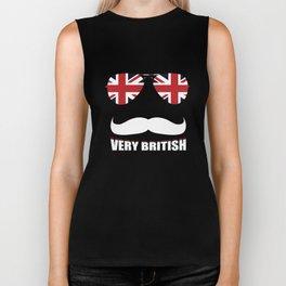 Union Jack Very British United Kingdom Flag Biker Tank