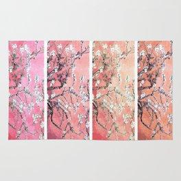 Vincent Van Gogh Almond Blossoms Panel Pink Peach Rug