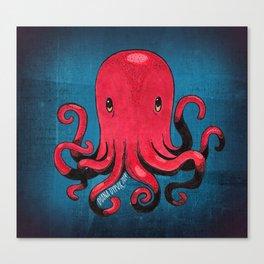 Octopus! Canvas Print