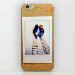 He's got the whole world in his hands iPhone Skin