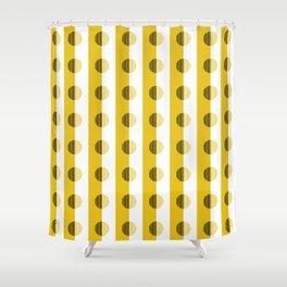 Horizons Geometric Sun Shine Yellow Shower Curtain