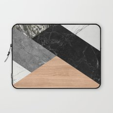 Marble and Wood Abstract Laptop Sleeve