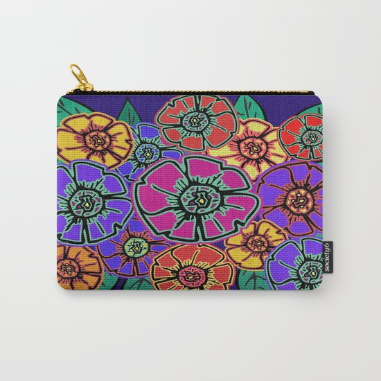 Abstract #462 - Flower Power #13 Carry-All Pouch