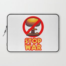 STOP WAR No Bomb Sign Laptop Sleeve