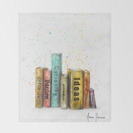 Books of Life Throw Blanket