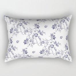 Penis Pattern Rectangular Pillow