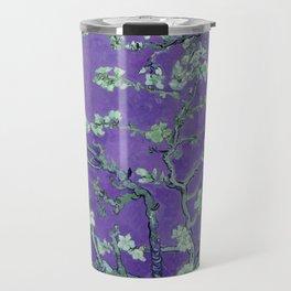 "Vincent van Gogh ""Almond Blossoms"" (edited purple) Travel Mug"