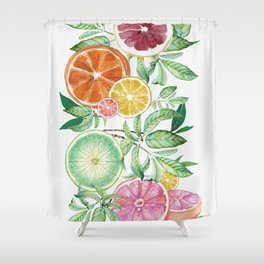 Citrus Fruit Shower Curtain