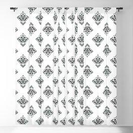 Decoish - White on Black - Set 4 Blackout Curtain