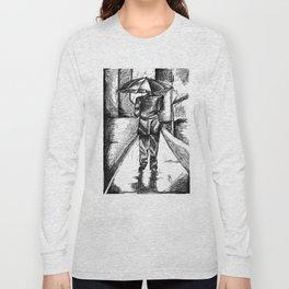 Man in the rain Long Sleeve T-shirt