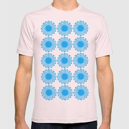 Vintage Flower_Turquoise T-shirt