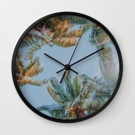 palm trees ix Wall Clock