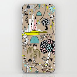 Magical Garden (Beige) iPhone Skin