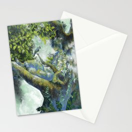 Hiding in the leaves Stationery Cards