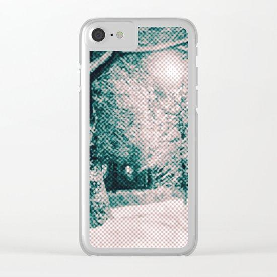 Winter wonderland. Halftone effect Clear iPhone Case