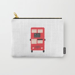 Red Double Decker Bus  Carry-All Pouch