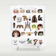 ABC3PO Episode II Shower Curtain