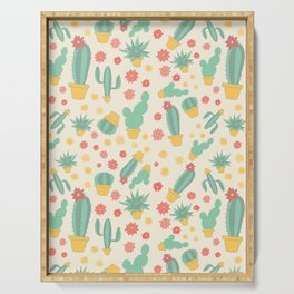 Cactus Pattern Serving Tray