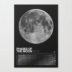 2015 Phases of the Moon Calendar (Full Moon) Canvas Print