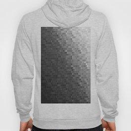 Gray Ombre Pixels Hoody