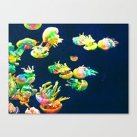 rasta Canvas Prints featuring Rasta Jellies by Heidi Fairwood