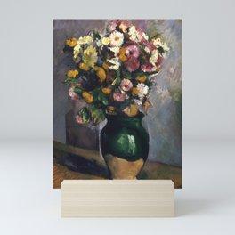 "Paul Cezanne ""Still Life with Flowers in an Olive Jar"" Mini Art Print"