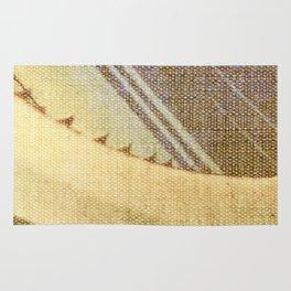Agave Cactus on burlap cloth Rug
