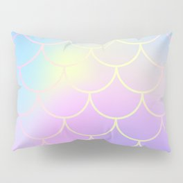 Pink Blue Mermaid Tail Abstraction Pillow Sham