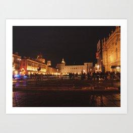 Turin by night Art Print