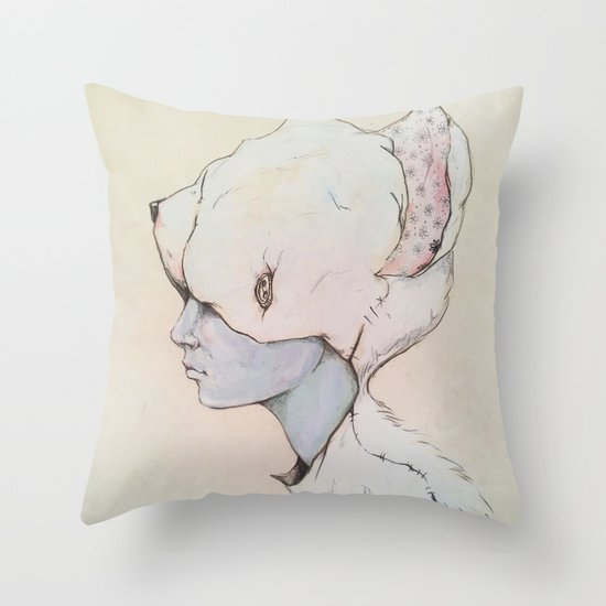 Portrait E Throw Pillow