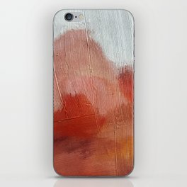 Desert Journey [2]: a textured, abstract piece in pinks, reds, and white by Alyssa Hamilton Art iPhone Skin