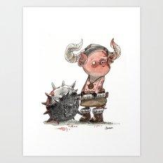 Cochon barbare Art Print