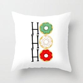 Ho Ho Ho - Holiday Donuts Throw Pillow