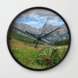 Colorado Rockies Secluded Lake Wall Clock