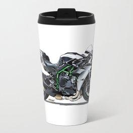 The Supercharged Kawasaki Ninja H2 Hypersport Bike Travel Mug