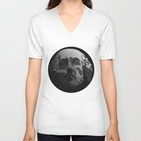 shakespeare V-neck T-shirts featuring Shakespeare / Destiny by MORPHEUS