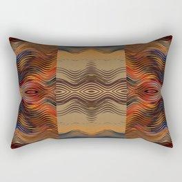 Under the Blanket of Sunset Native American Inspired Pattern Rectangular Pillow
