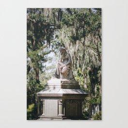 Bonaventure Cemetery - Statue of Eliza Wilhelmina Theus III Canvas Print