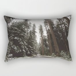 Redwood Forest Adventure II - Nature Photography Rectangular Pillow