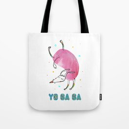 Yoga Dog - Handstand Tote Bag