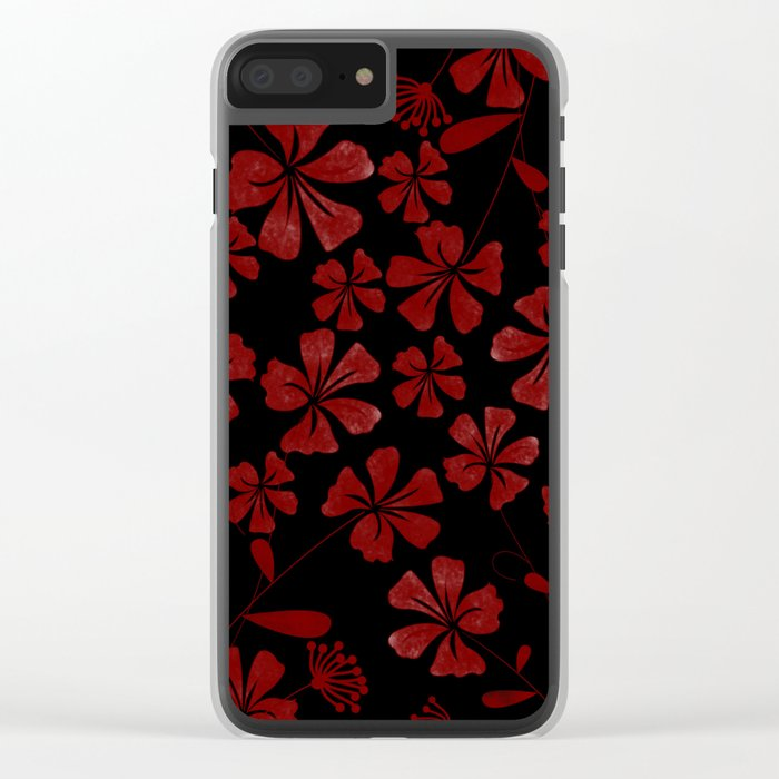 Flower..7 Clear iPhone Case