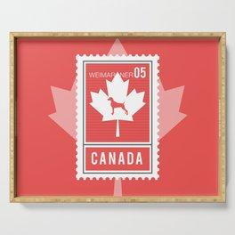 CANADA WEIM STAMP Serving Tray