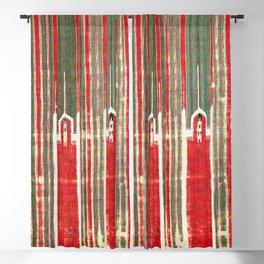 Nigde Cappadocian Central Anatolian Niche Kilim Fragment Print Blackout Curtain