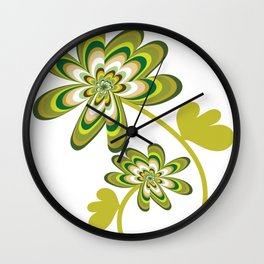 Green Streak Wall Clock