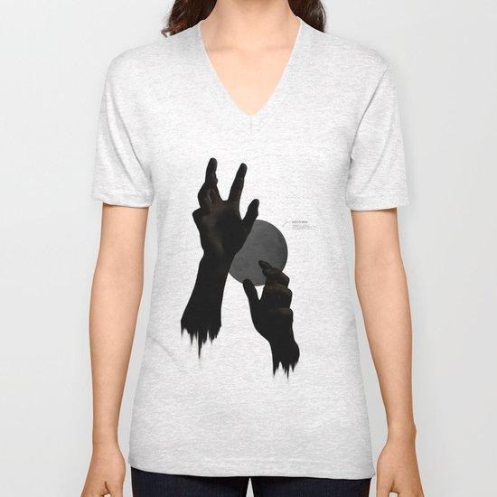Hand's on the Moon Unisex V-Neck