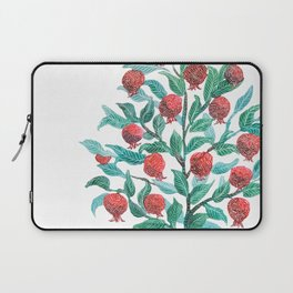 Persephone- Pomegranate Tree on White Laptop Sleeve