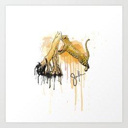 Caipora jaguar Art Print